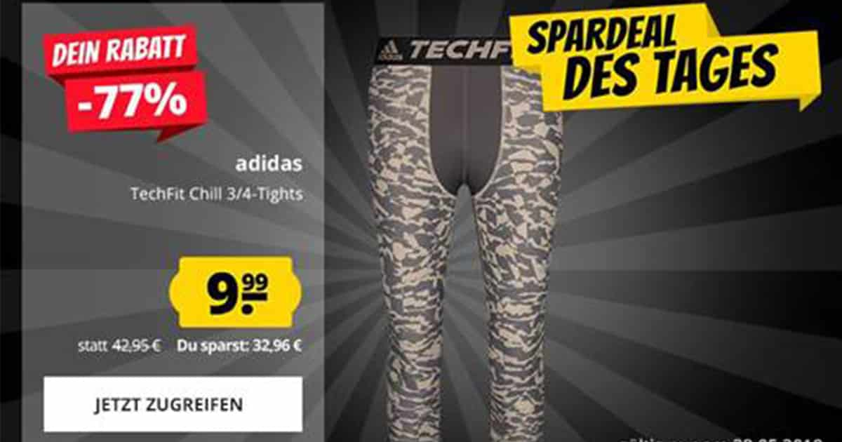 SportSpar: adidas Techfit Chill 34 Tight für 9,99? statt 42