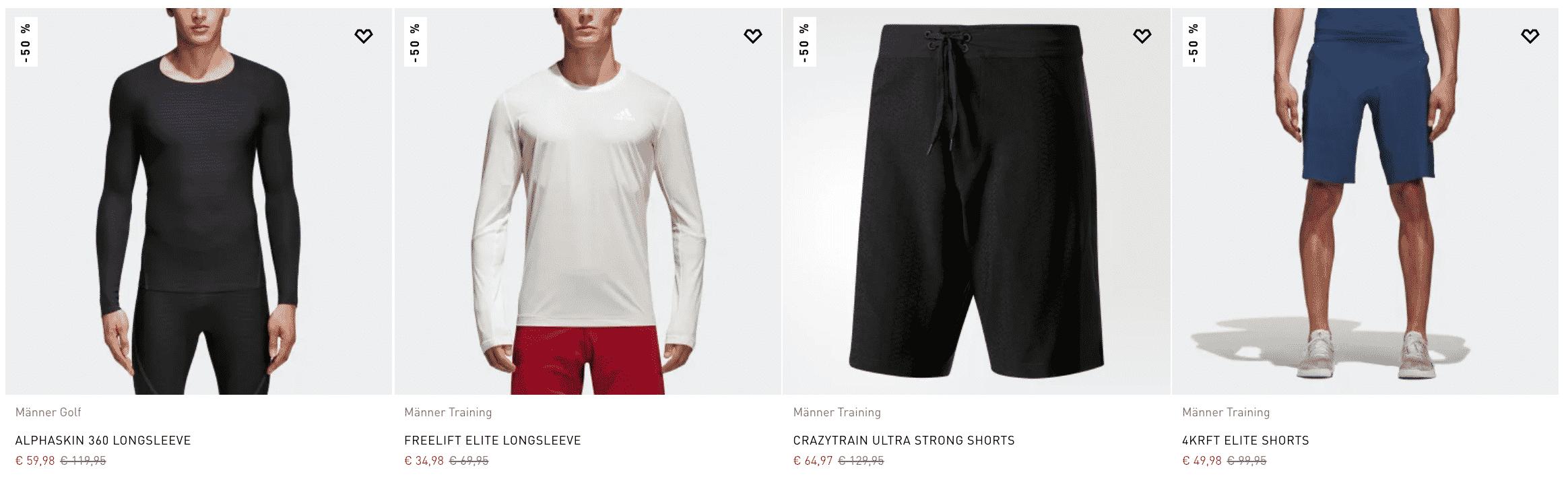Adidas: Bis zu 50% Rabatt im Sale (z.B. Crazytrain LT Schuh