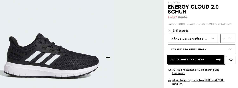 Adidas: Sale Energy Cloud 2.0 Schuh für 45,47 € statt 64