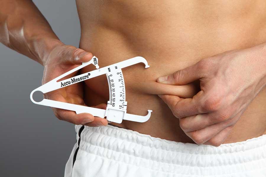 Bild: Körperfettmessung mit dem Caliper