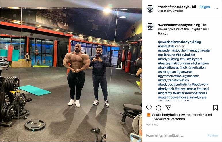 Instagram-Bild: Big Ramy acht Wochen vor der Arnold Classic 2020
