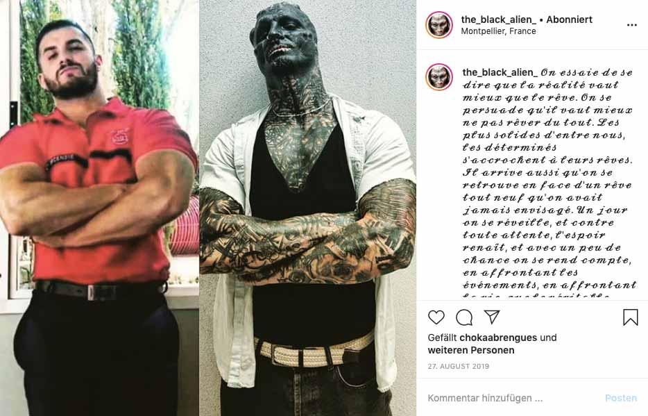 Instagram-Bild: Immer noch muskulös, doch mit unzähligen körperlichen Veränderungen, zeigt sich Bodybuilder Anthony Lofreddo jetzt in den sozialen Medien.