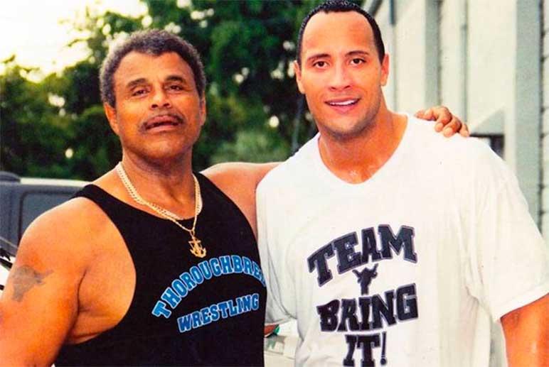 Bild: Rocky und Dwayne Johnson