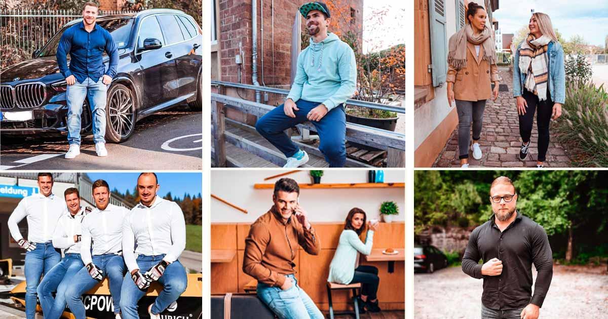 Instagram-Bilder: Aesperal Jeans und Hemden