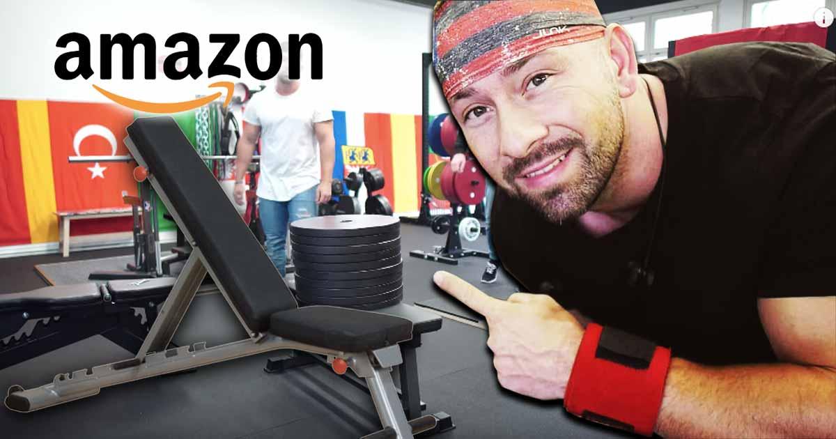 Titelbild: die günstige Flachbank von Amazon im Test