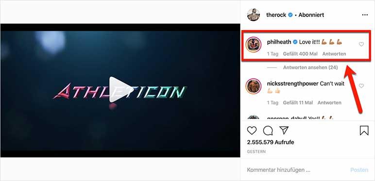 Instagram-Bild: Phil Heath kommentiert Icon World Classic