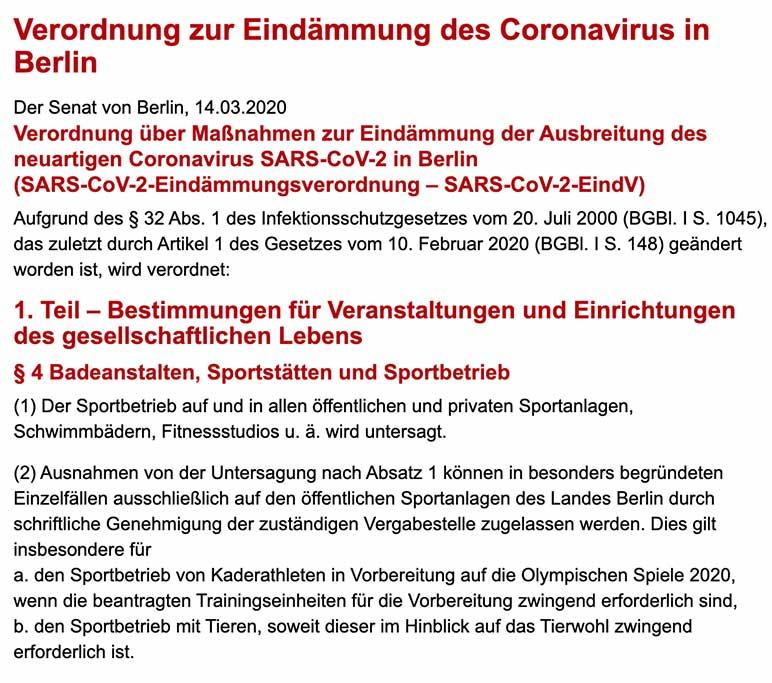 Verordnung: Berliner Fitness-Studios müssen wegen Coronavirus schließen