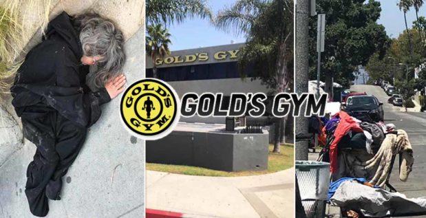 Titelbild: Obdachlose nehmen leere Straßen um Gold's Gym in Venice Beach ein