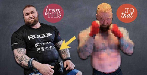Titelbild: So viel Gewicht verlor Hafthor Björnsson bereits durch das Boxtraining - Transformation
