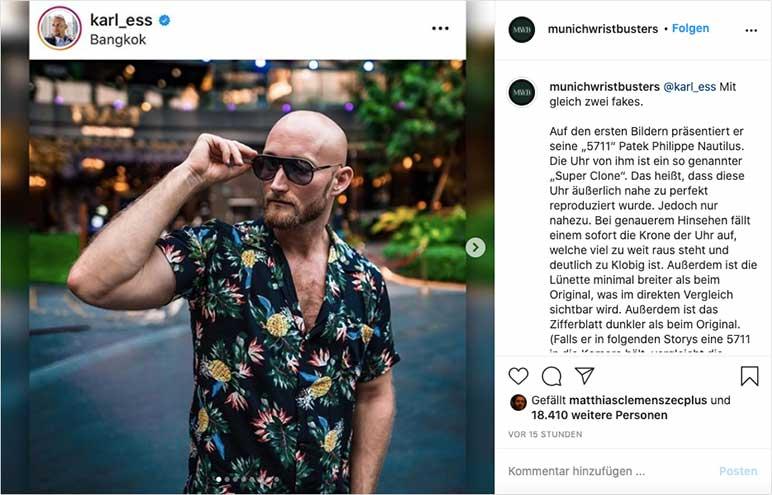 Bild: Karl Ess trägt Fake-Uhren?