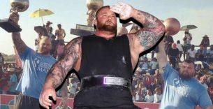 Titelbild: Hafthor Björnsson siegt beim Iceland's Strongest Man und beendet Strongman-Karriere