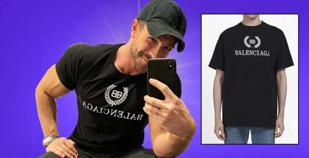 Titelbild: Simon Teichmann mit gefälschtem Balenciaga T-Shirt aufgeflogen?!