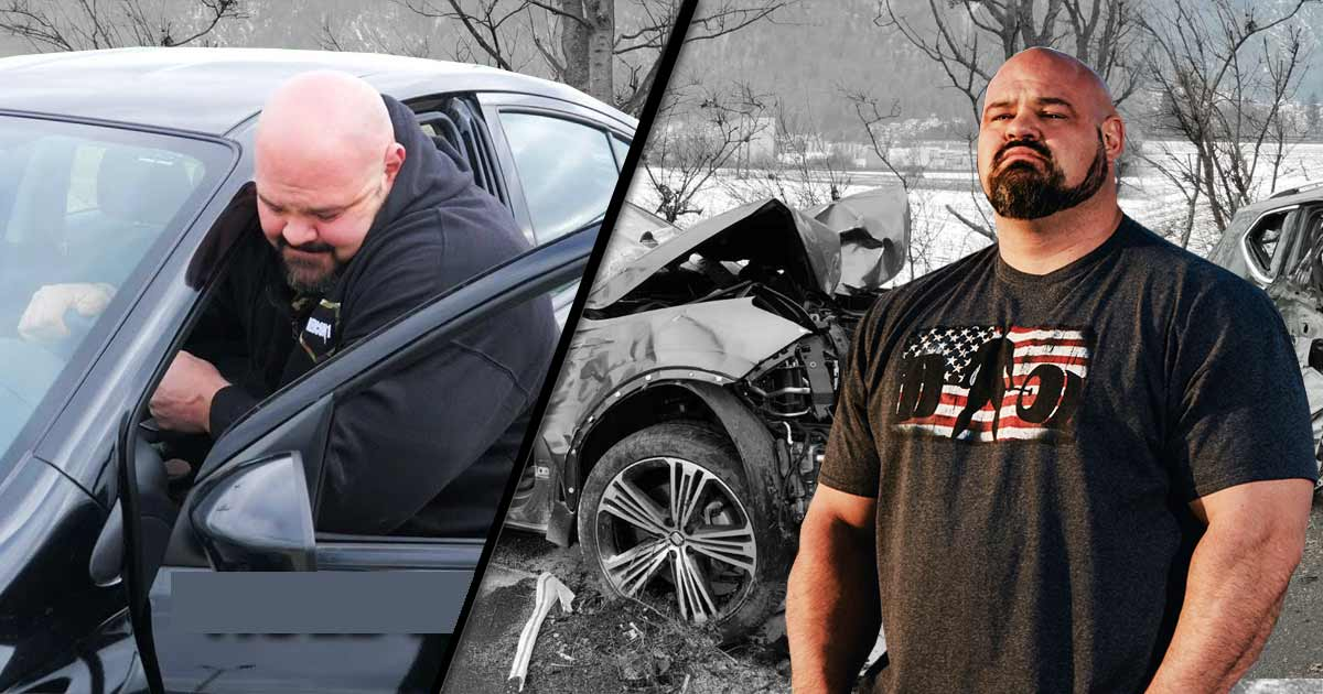 Titelbild: Brian Shaw verbiegt Autotür, um blutenden Passagier zu retten