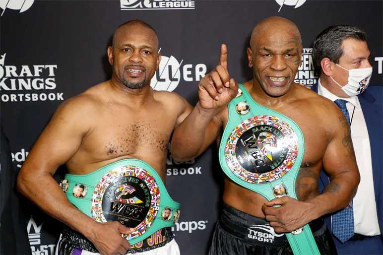 Bild: Mike Tyson und Roy Jones Jr.