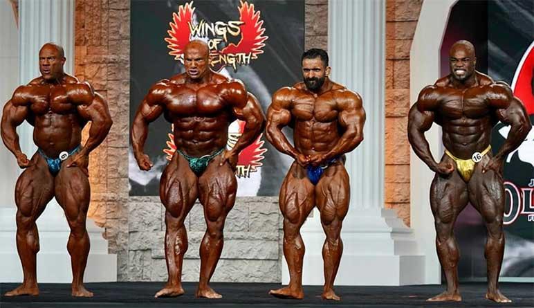 Bild: Die Top 4 beim Mr. Olympia