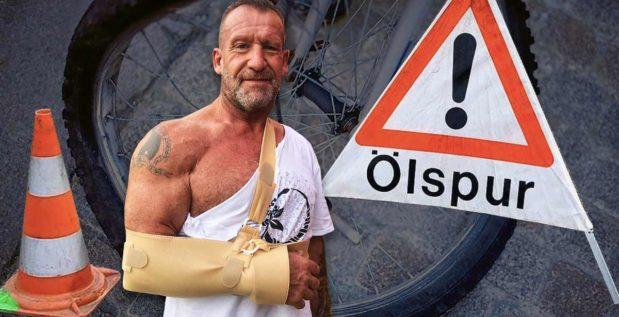 Titelbild: Dorian Yates verletzt sich bei Fahrradunfall
