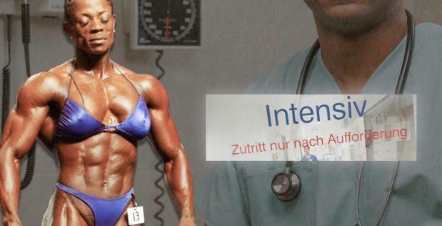 Titelbild: Iris Kyle mit gesundheitlichen Problemen auf der Intensivstation
