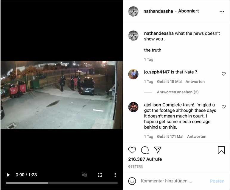 Instagram: Überwachungsvideo